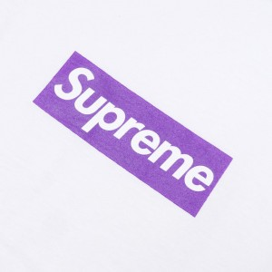 SUPREME WHITE PURPLE BOX...