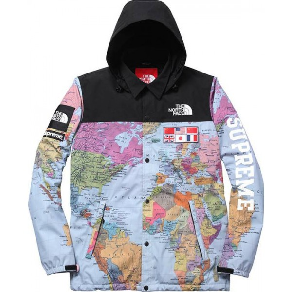 Supeme Jacket Supreme X The North Face Worldwide Map Jacket Size XL