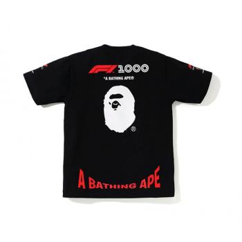 BAPE x F1 1000 Tee Black