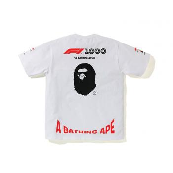 BAPE x F1 1000 Tee White