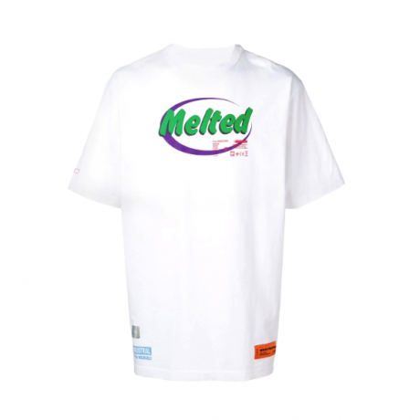 HERON PRESTON Melted print T-shirt White
