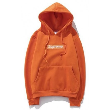 Supreme Orange Box Logo Hoodie