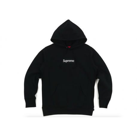 Supreme Box Logo Hooded Sweatshirt Black