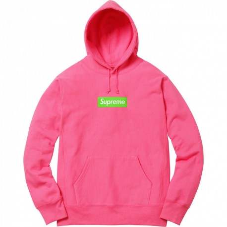 Supreme Box Logo Hooded Sweatshirt FW17 Magenta