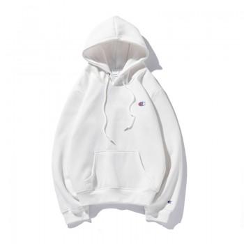 Champion Logo White Hoodie