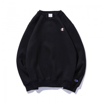 Champion Logo Black Sweatshirt