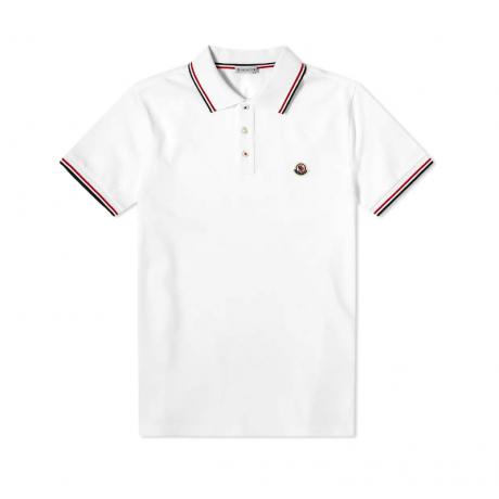 Moncler Classic Logo Polo White