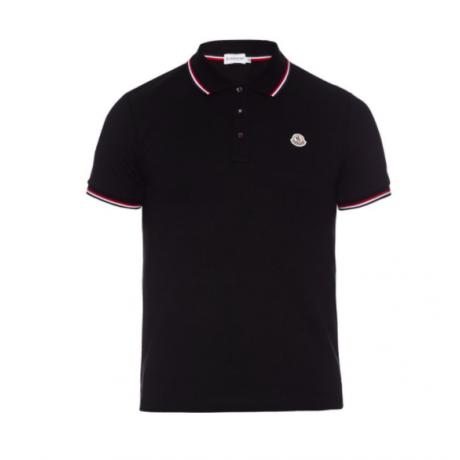 Moncler Classic Logo Polo Black