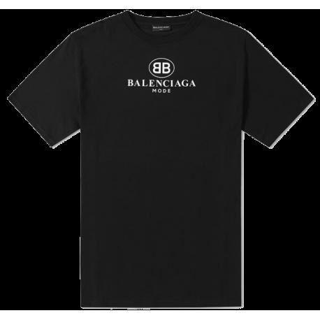 BB BALENCIAGA MODE T-SHIRT Black Size S