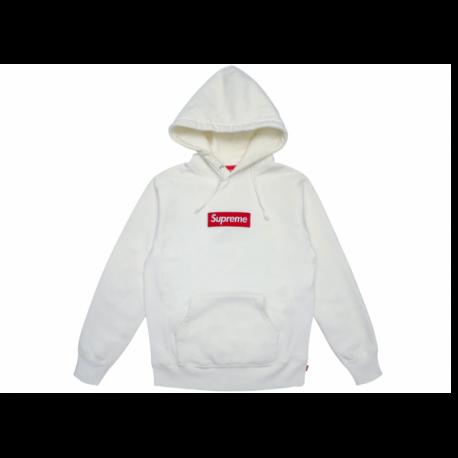 Supreme Box Logo Hooded Sweatshirt White