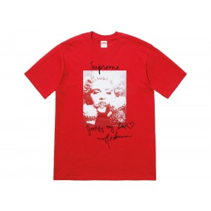 Supreme Madonna Tee Pale Red